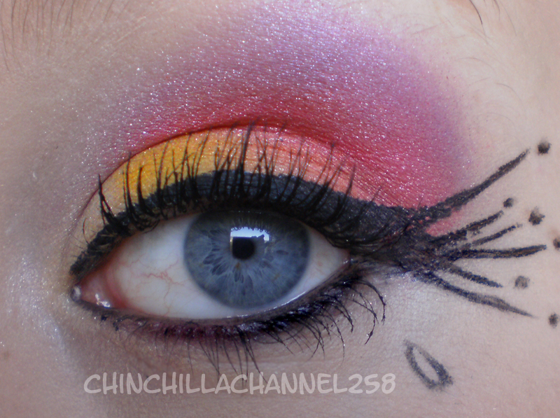 Cookingchinchillas Fancy Yellow Orange Pink Purple Eye Make Up