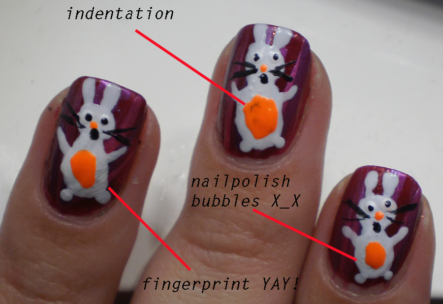 Cookingchinchillas bunny nail art epic failor never do nail but tomorrow will be a new day sciox Gallery