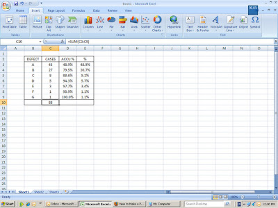 Create Pareto Chart With Microsoft Excel 2007