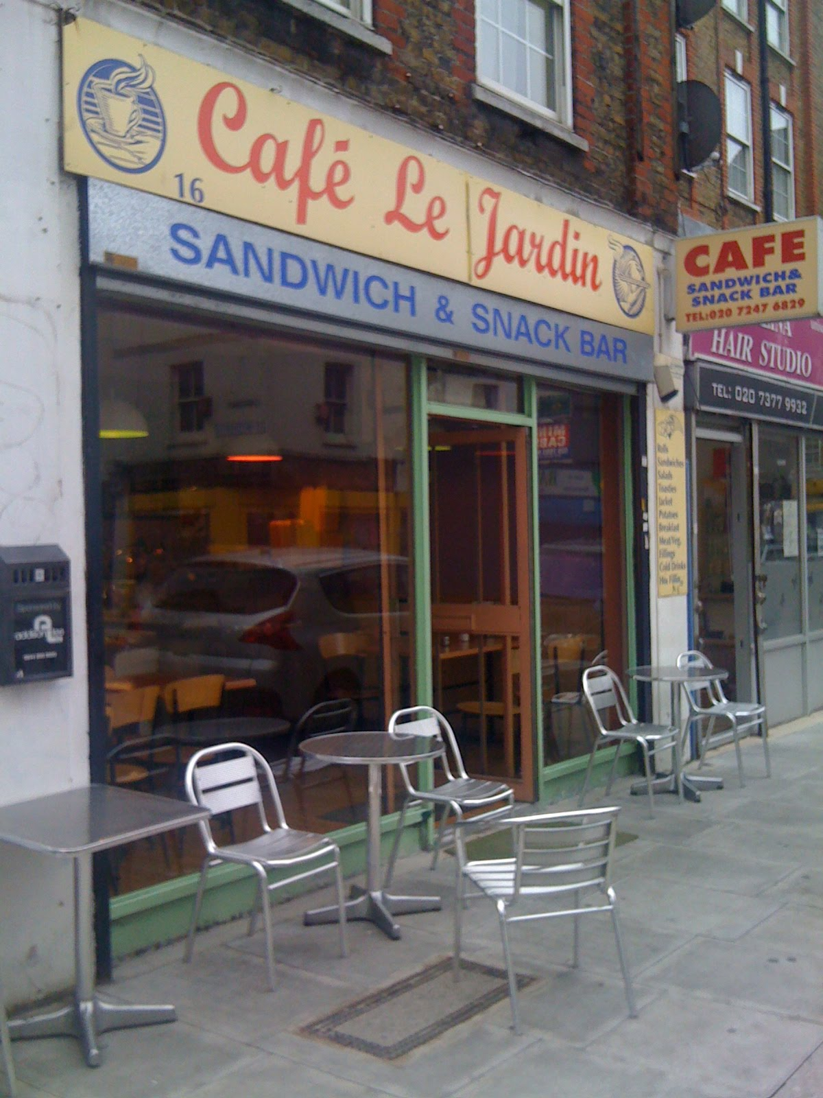 The fry up inspector cafe le jardin london for Cafe du jardin london