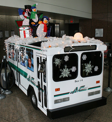 AC Transit Mini Bus with Holiday Decorations at General Offices