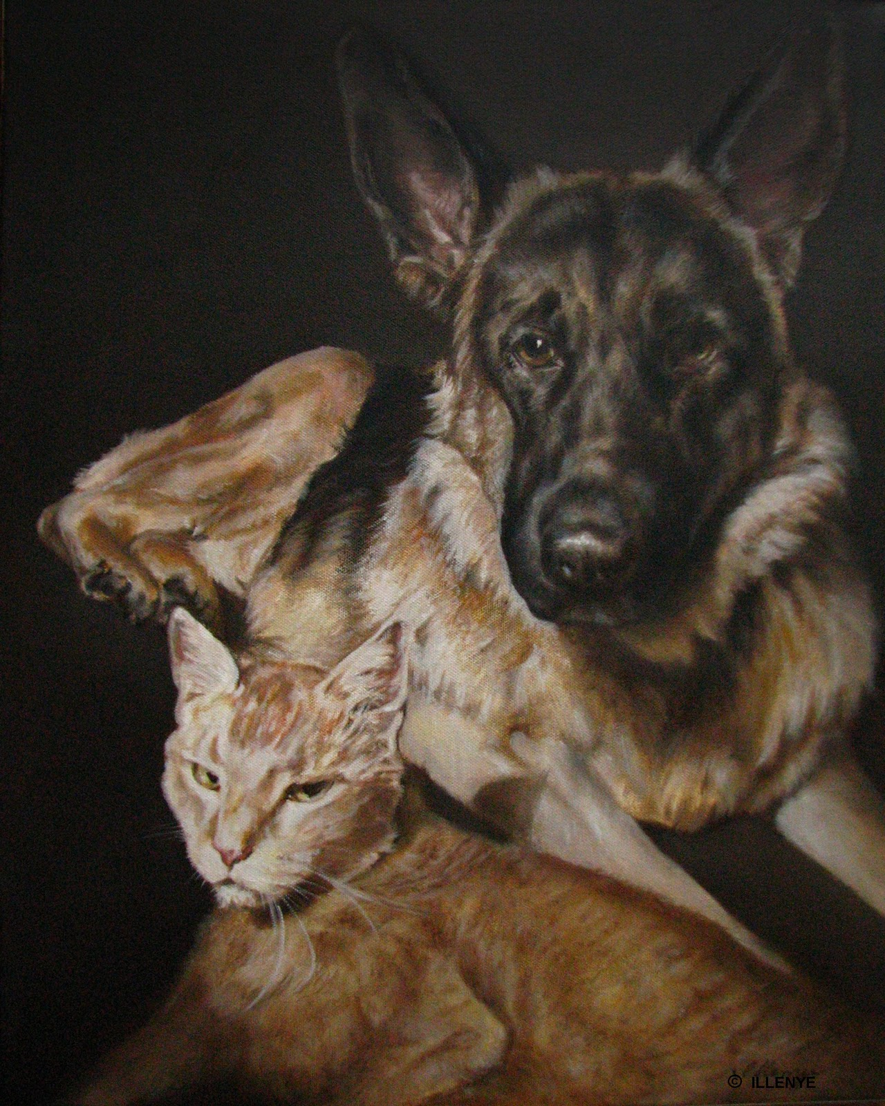 daily painters of michigan jeanne illenye best friends dog and