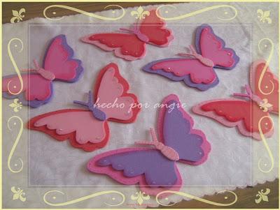 Manualidades infantiles manualidades con foamy - Como hacer mariposas de goma eva ...