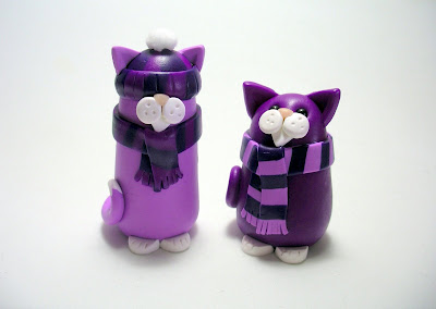 Bobble Hat and Scarf Cats