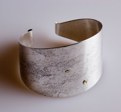 © Firth cuff, silver with 18k gold