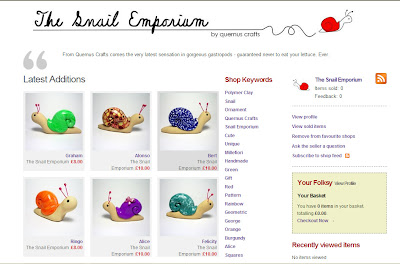 The Snail Emporium on Folksy