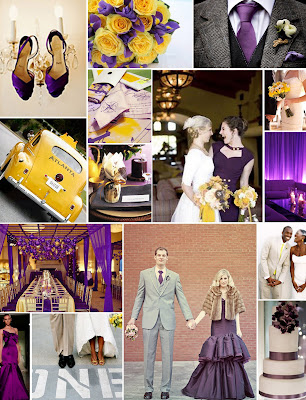 lovely color palette even for a wedding So here's a purple and yellow