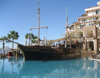Villa Del Archo's Pool.  Complete with Pirate Ship accessory!