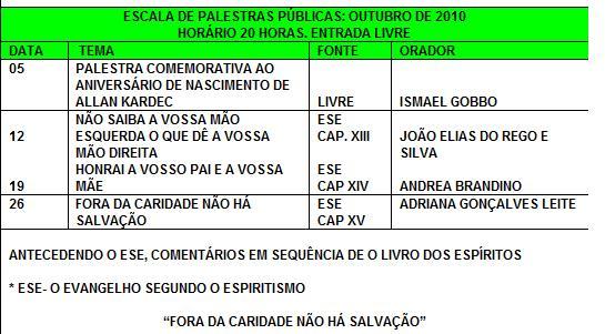 d3a32847543 Palestras públicas na Casa da Caridade Araçatuba