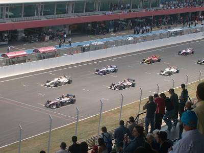 Prova de GP2 realizada no Autodromo Internacional do Algarve em 2009