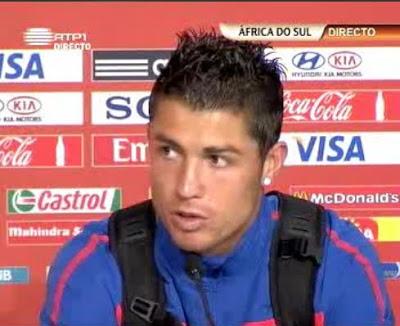 Cristiano Ronaldo, hoje na conferência de imprensa final do jogo Costa do Marfim 0-0 Portugal