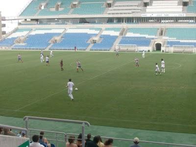 Jogo na pré epoca entre Farense e Aljustrelense que terminou com a vitória dos Leões de Faro por 4-1