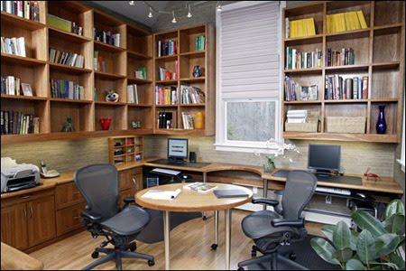 gambar kerja rumah on Desain Ruang Kerja merangkap Perpustakaan Rumah