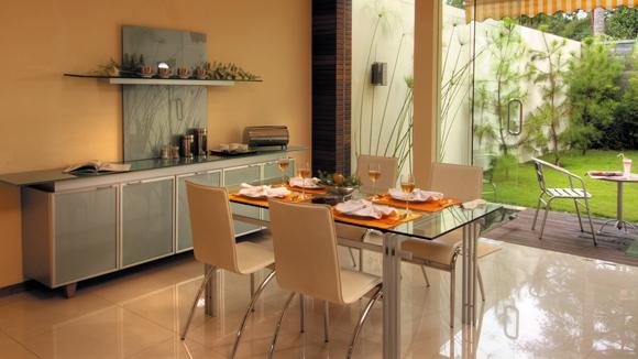 desain ruang makan kecil mungil rumah minimalis 2014