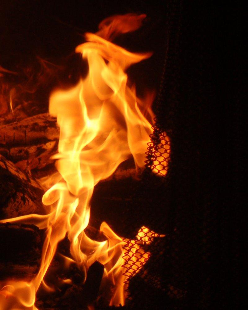 Flame man