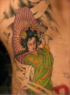cool geisha tattoo