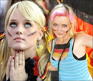 Different Expressions From Germany Fans With Face Painting Art