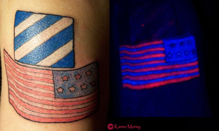 He was totally into having blacklight ink. So we went ahead with it.