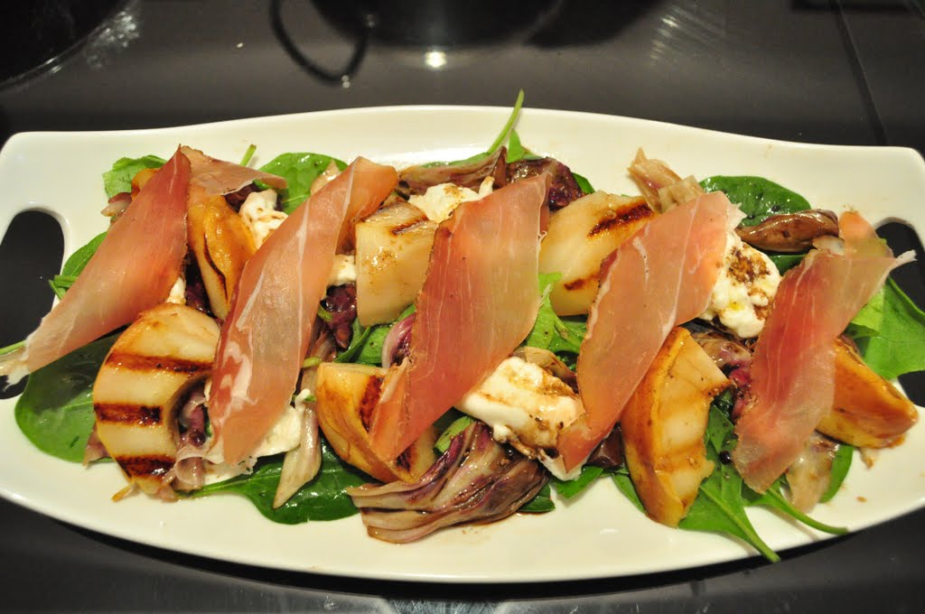 EAT Everyday: Grilled Pears with Burrata, Speck and Grilled Radicchio