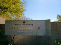 Juniper Library Sign in North Phoenix, AZ
