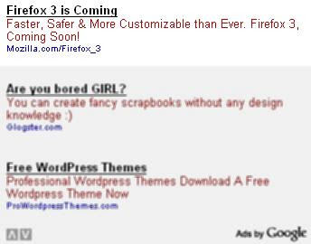 Firefox 3 ads in Adsense unit