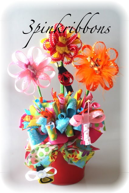 Disney Bouquet of Hair Bows Featuring Tigger, Pooh and Piglet