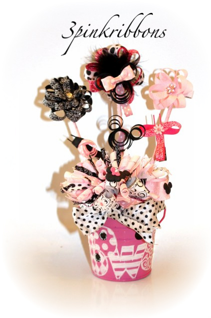 Minnie Mouse Boutique Bouquet of Hair Bows!