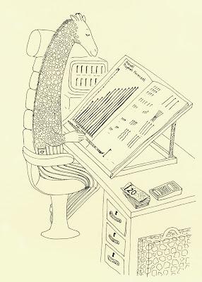 The Giraffe Method of Accounting by UK Giraffe Artist Ingrid Sylvestre North East UK Durham