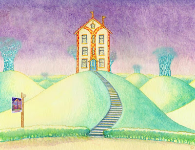 Necky Knoll House in Giraffe World by North East giraffe artist writer and entertainer Ingrid Sylvestre Durham UK