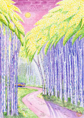 The Forest Road by Ingrid Sylvestre North East artist author and entertainer Durham UK