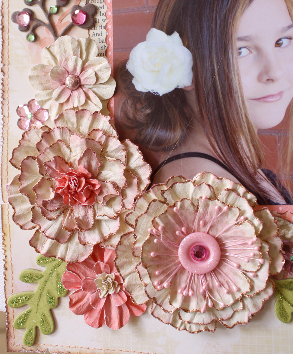 Chasing paper dreams beautiful distressed paper flowers for Handmade paper flowers tutorial