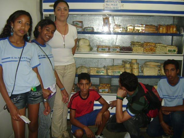 Visita ao mercado municipal com a prof.Adriana