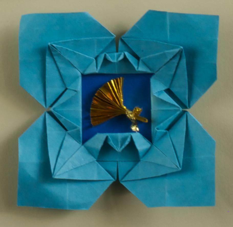 Kissing Cranes Picture Frame Diagram Origami Artis Bellus Tomoko Fuse Diagrams