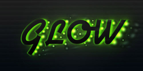 Create a Futuristic Glowing Text Effect Photoshop tutorial