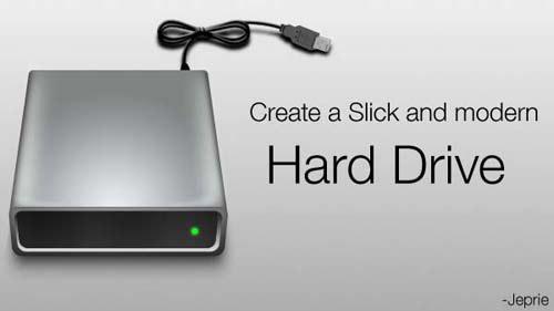 Create a Slick External Hard Disk Photoshop tutorial