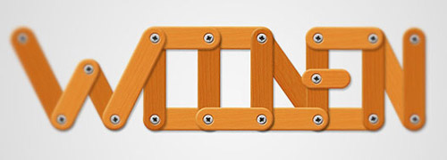 Create a Funny Wooden Type Treatment Photoshop tutorial