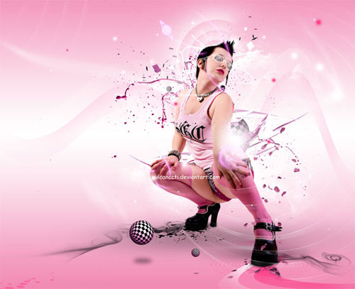 Create Stylish Pinky Portrait Photoshop tutorial