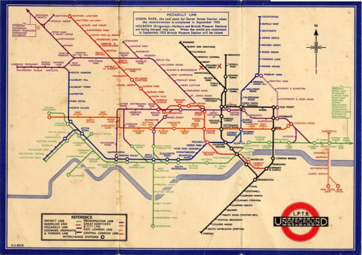 london underground map 1933. London Underground Map