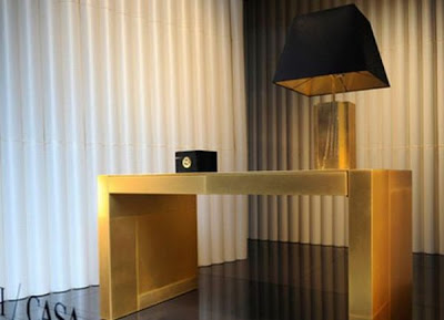 Armani Casa Gold Plated Desk
