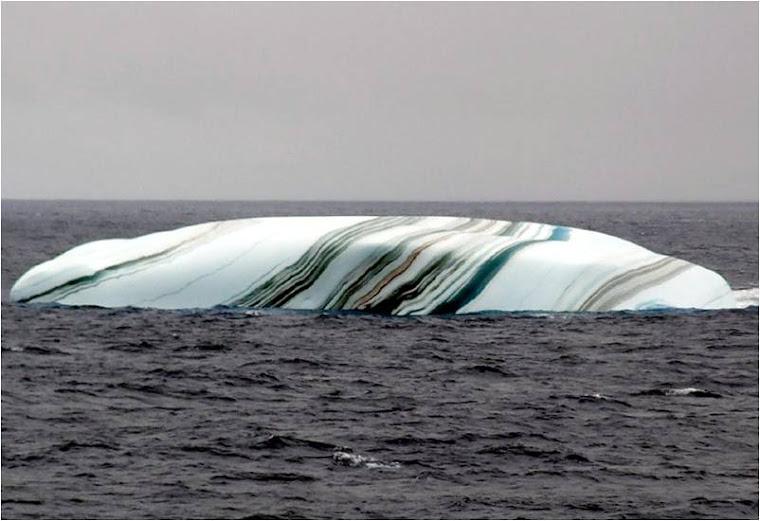 Témpanos antárticos rayados