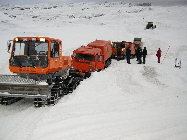 Medios de transporte en la Antártida