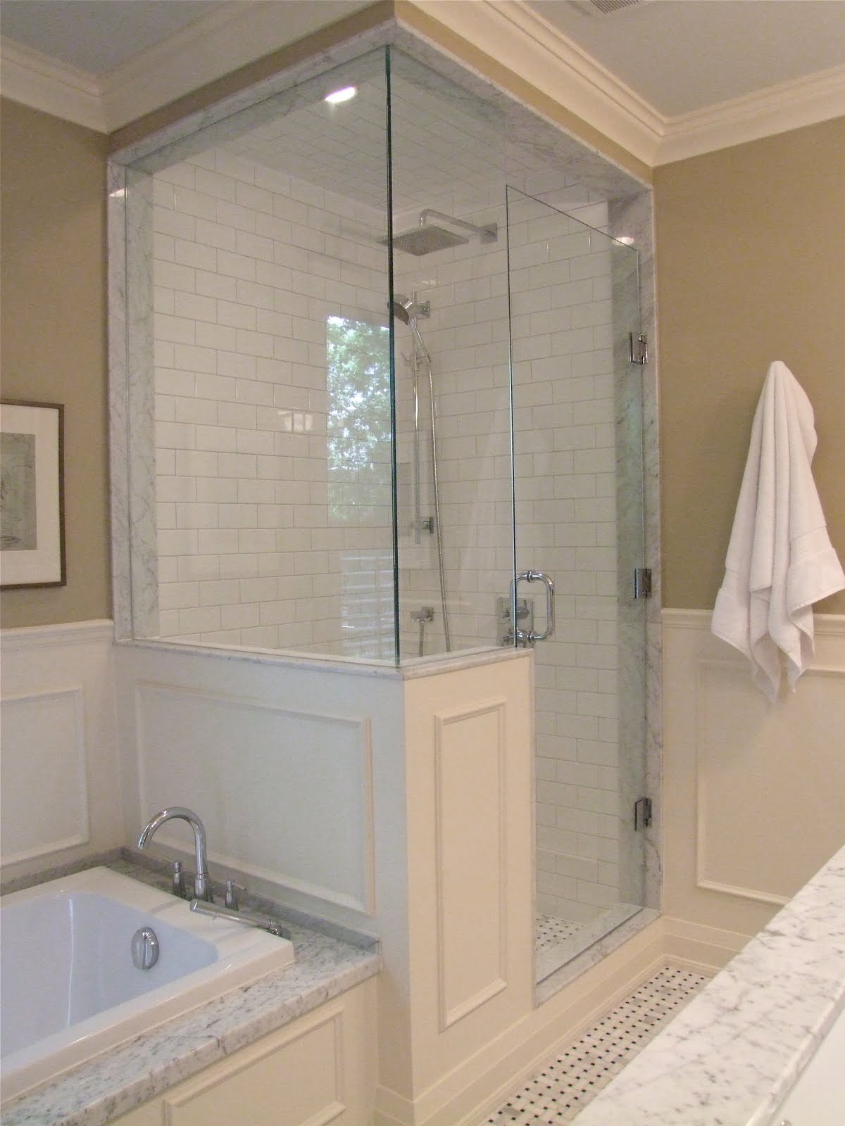 Creed after e design bathroom project part 2 for Master bath remodel