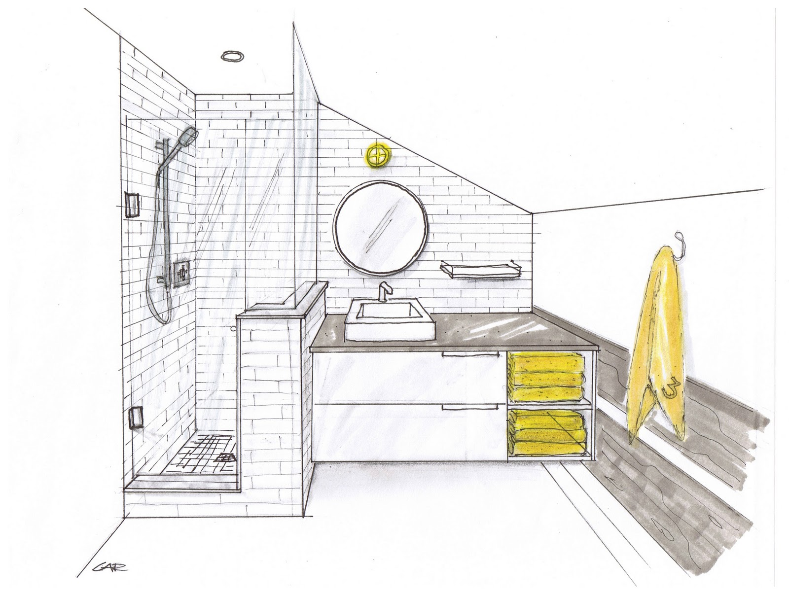 Bathroom blueprint