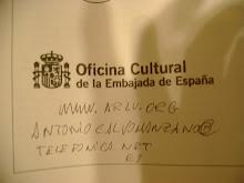 Curiosidad:  Direccion de email de la profesora Calvo Manzano manuscrito