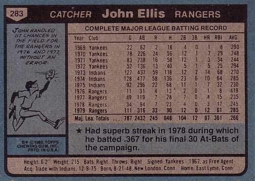 John Ellis Baseball Who is This Player John Ellis
