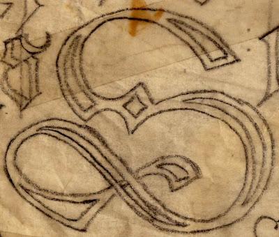 hübsche alte Buchsabenskizze von Mutti