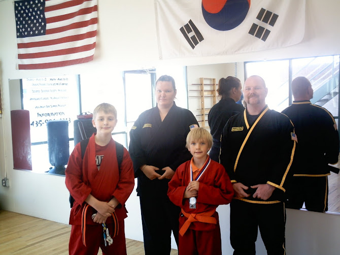 Ashton  and Ammon at Karate