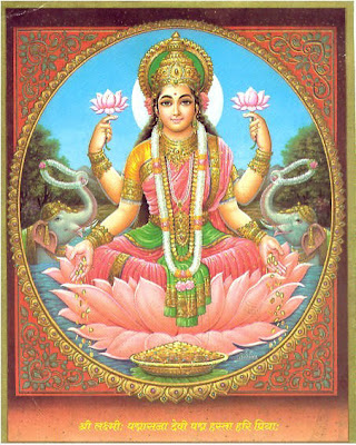 picture of the Hindu goddess Lakshmi