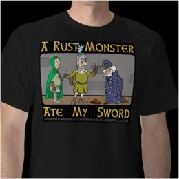 Be One of the Cool Kids:<br>Get Your Very Own Rustacular<br><i>A Rust Monster Ate My Sword</i> Tee!