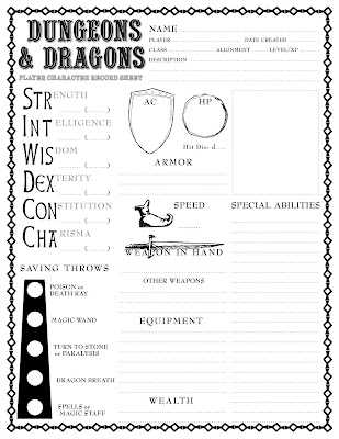 edition) character sheet.